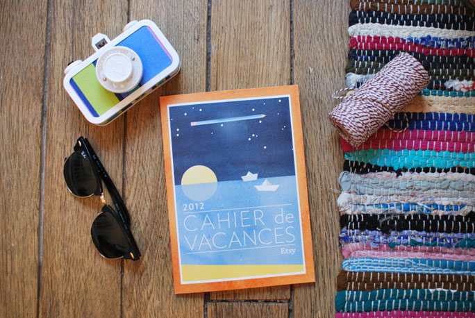 concours etsy cahier de vacances DIY
