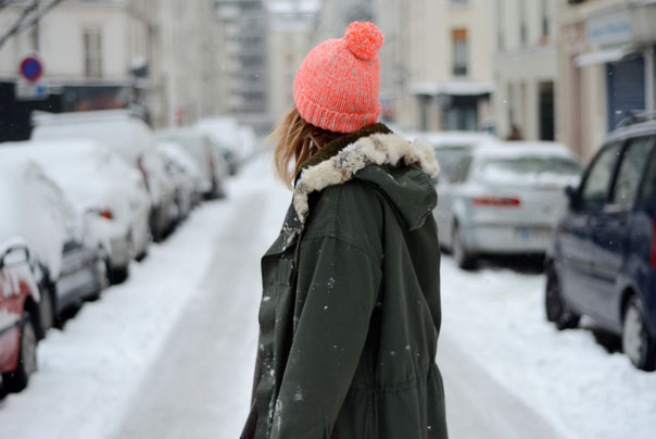 style look snow paris mode